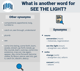 see the light, synonym see the light, another word for see the light, words like see the light, thesaurus see the light