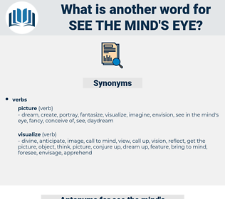 see the mind's eye, synonym see the mind's eye, another word for see the mind's eye, words like see the mind's eye, thesaurus see the mind's eye