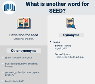 seed, synonym seed, another word for seed, words like seed, thesaurus seed