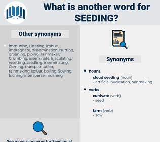 Seeding, synonym Seeding, another word for Seeding, words like Seeding, thesaurus Seeding