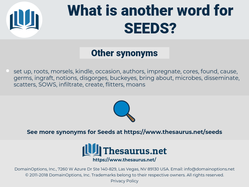 Seeds, synonym Seeds, another word for Seeds, words like Seeds, thesaurus Seeds