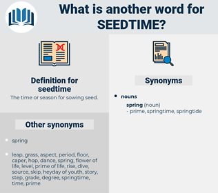seedtime, synonym seedtime, another word for seedtime, words like seedtime, thesaurus seedtime