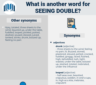 seeing double, synonym seeing double, another word for seeing double, words like seeing double, thesaurus seeing double
