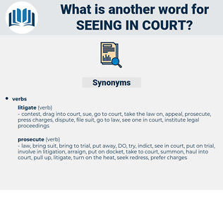 seeing in court, synonym seeing in court, another word for seeing in court, words like seeing in court, thesaurus seeing in court