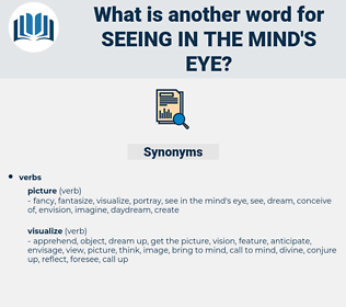 seeing in the mind's eye, synonym seeing in the mind's eye, another word for seeing in the mind's eye, words like seeing in the mind's eye, thesaurus seeing in the mind's eye