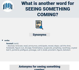 seeing something coming, synonym seeing something coming, another word for seeing something coming, words like seeing something coming, thesaurus seeing something coming