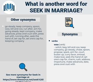 seek in marriage, synonym seek in marriage, another word for seek in marriage, words like seek in marriage, thesaurus seek in marriage