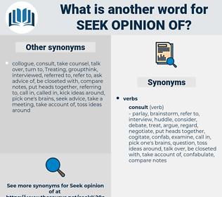 seek opinion of, synonym seek opinion of, another word for seek opinion of, words like seek opinion of, thesaurus seek opinion of