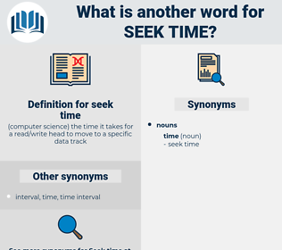 seek time, synonym seek time, another word for seek time, words like seek time, thesaurus seek time