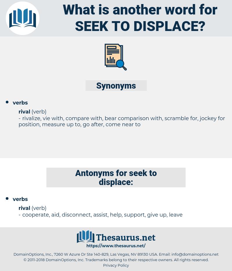 seek to displace, synonym seek to displace, another word for seek to displace, words like seek to displace, thesaurus seek to displace
