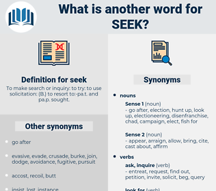 seek, synonym seek, another word for seek, words like seek, thesaurus seek