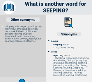 seeping, synonym seeping, another word for seeping, words like seeping, thesaurus seeping