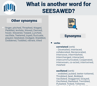 seesawed, synonym seesawed, another word for seesawed, words like seesawed, thesaurus seesawed