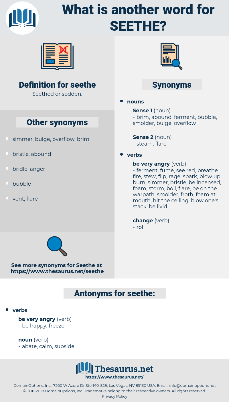 seethe, synonym seethe, another word for seethe, words like seethe, thesaurus seethe