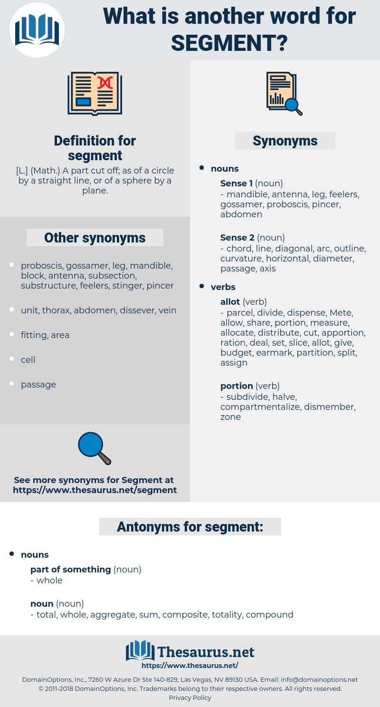 segment, synonym segment, another word for segment, words like segment, thesaurus segment