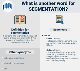 segmentation, synonym segmentation, another word for segmentation, words like segmentation, thesaurus segmentation