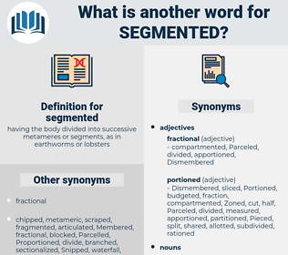 segmented, synonym segmented, another word for segmented, words like segmented, thesaurus segmented