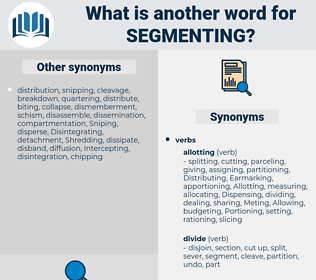 segmenting, synonym segmenting, another word for segmenting, words like segmenting, thesaurus segmenting