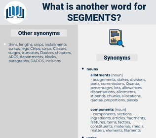 segments, synonym segments, another word for segments, words like segments, thesaurus segments