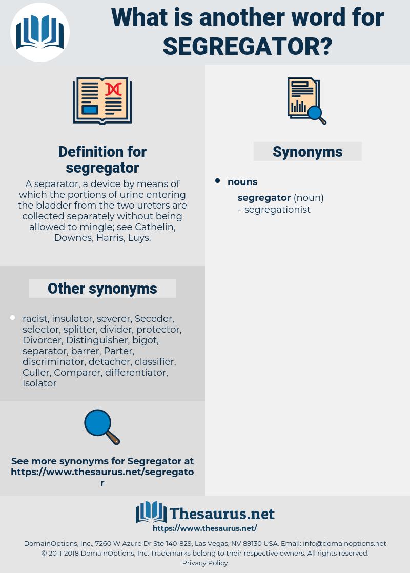 segregator, synonym segregator, another word for segregator, words like segregator, thesaurus segregator