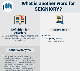 seigniory, synonym seigniory, another word for seigniory, words like seigniory, thesaurus seigniory
