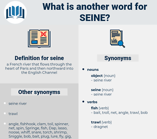 seine, synonym seine, another word for seine, words like seine, thesaurus seine