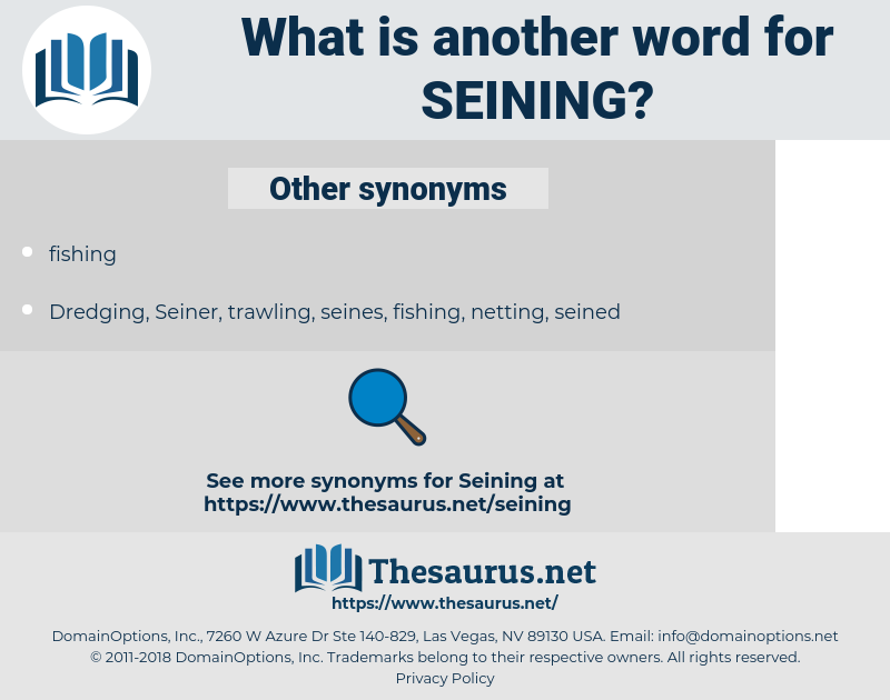 Seining, synonym Seining, another word for Seining, words like Seining, thesaurus Seining