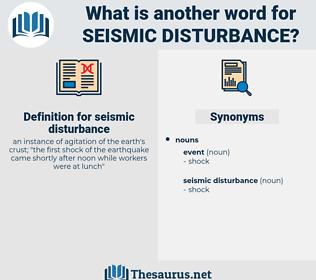 seismic disturbance, synonym seismic disturbance, another word for seismic disturbance, words like seismic disturbance, thesaurus seismic disturbance
