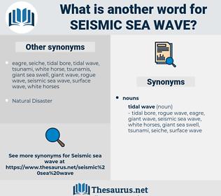 seismic sea wave, synonym seismic sea wave, another word for seismic sea wave, words like seismic sea wave, thesaurus seismic sea wave