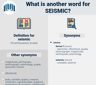 seismic, synonym seismic, another word for seismic, words like seismic, thesaurus seismic