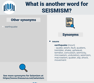 seismism, synonym seismism, another word for seismism, words like seismism, thesaurus seismism