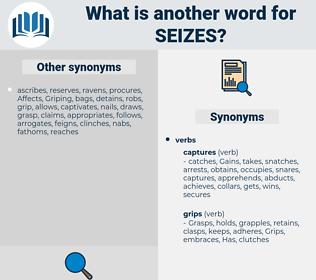 seizes, synonym seizes, another word for seizes, words like seizes, thesaurus seizes
