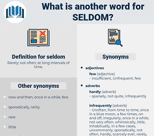 seldom, synonym seldom, another word for seldom, words like seldom, thesaurus seldom