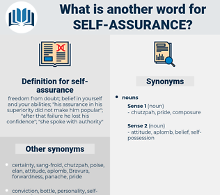 self-assurance, synonym self-assurance, another word for self-assurance, words like self-assurance, thesaurus self-assurance