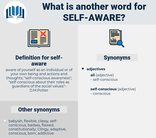 self-aware, synonym self-aware, another word for self-aware, words like self-aware, thesaurus self-aware