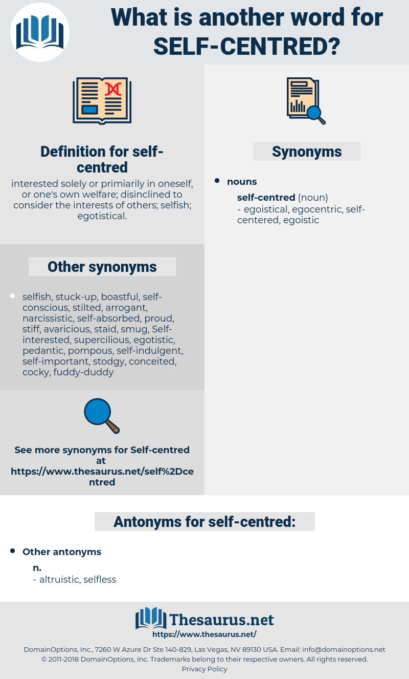 self-centred, synonym self-centred, another word for self-centred, words like self-centred, thesaurus self-centred