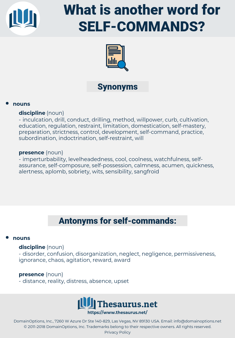 self commands, synonym self commands, another word for self commands, words like self commands, thesaurus self commands