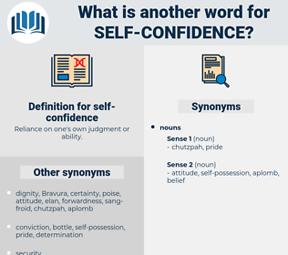 self-confidence, synonym self-confidence, another word for self-confidence, words like self-confidence, thesaurus self-confidence