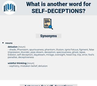 self-deceptions, synonym self-deceptions, another word for self-deceptions, words like self-deceptions, thesaurus self-deceptions