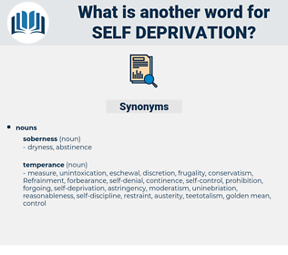self-deprivation, synonym self-deprivation, another word for self-deprivation, words like self-deprivation, thesaurus self-deprivation