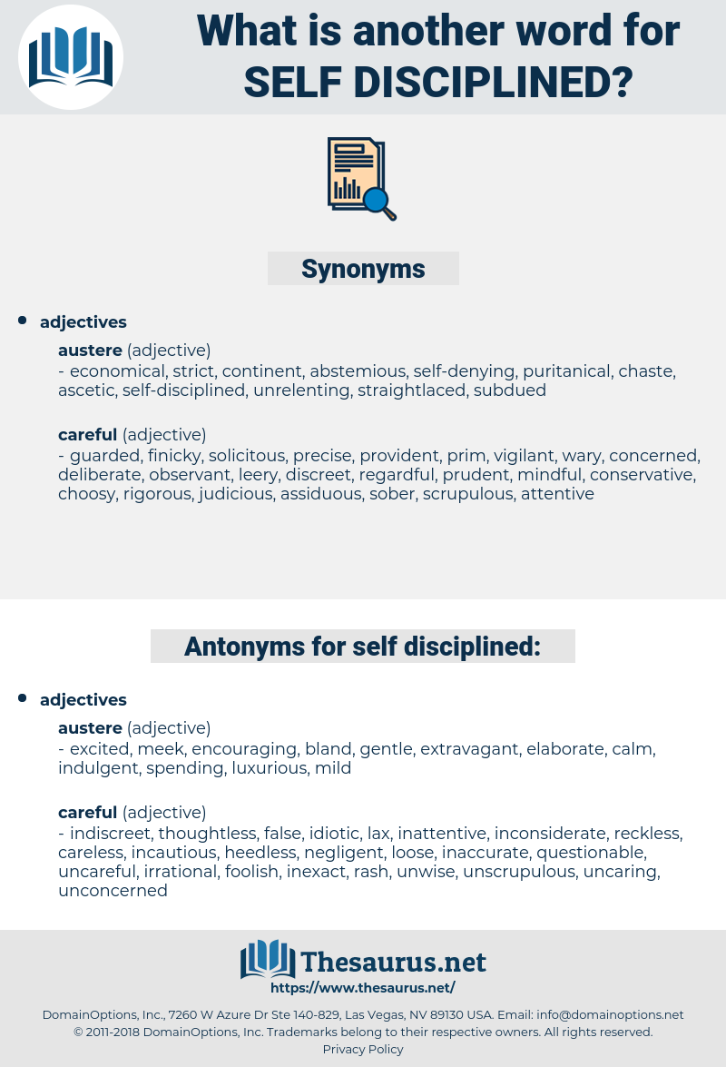 self-disciplined, synonym self-disciplined, another word for self-disciplined, words like self-disciplined, thesaurus self-disciplined