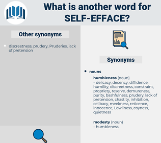 self efface, synonym self efface, another word for self efface, words like self efface, thesaurus self efface