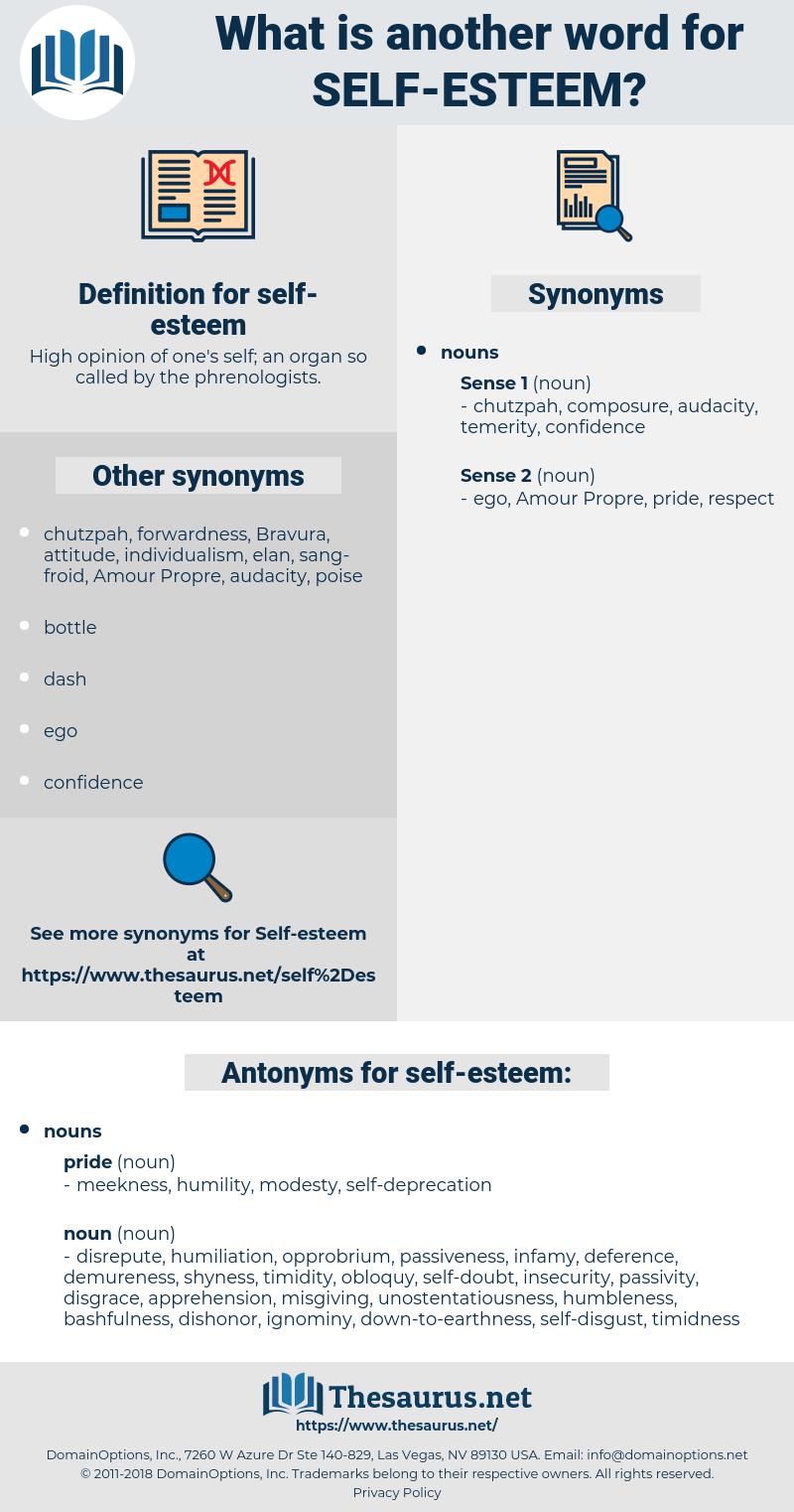 self-esteem, synonym self-esteem, another word for self-esteem, words like self-esteem, thesaurus self-esteem