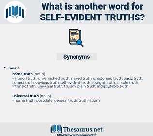 self-evident truths, synonym self-evident truths, another word for self-evident truths, words like self-evident truths, thesaurus self-evident truths