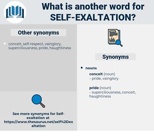 Self-exaltation, synonym Self-exaltation, another word for Self-exaltation, words like Self-exaltation, thesaurus Self-exaltation