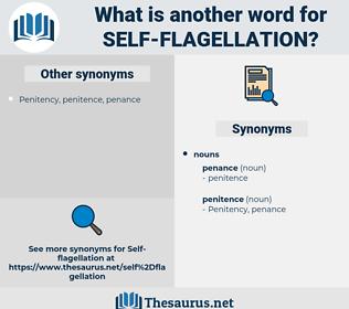 self flagellation, synonym self flagellation, another word for self flagellation, words like self flagellation, thesaurus self flagellation