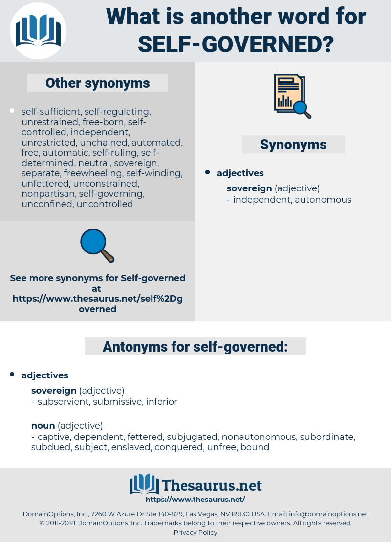self-governed, synonym self-governed, another word for self-governed, words like self-governed, thesaurus self-governed