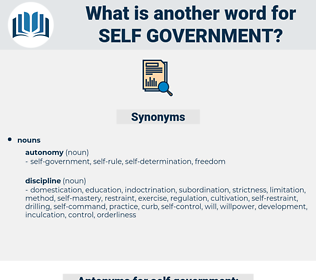 self government, synonym self government, another word for self government, words like self government, thesaurus self government