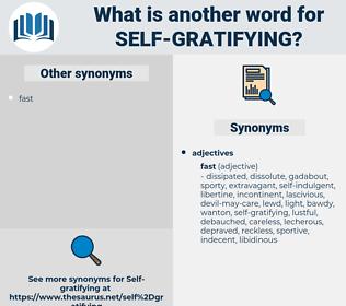 self-gratifying, synonym self-gratifying, another word for self-gratifying, words like self-gratifying, thesaurus self-gratifying