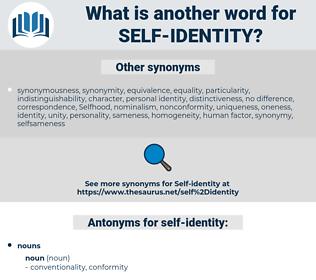 self-identity, synonym self-identity, another word for self-identity, words like self-identity, thesaurus self-identity